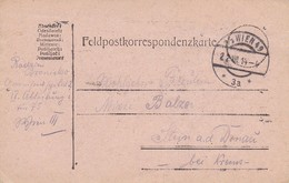 Feldpostkarte - Garnisonsspital 2 Wien Nach Stein/Donau - 1914 (38574) - 1850-1918 Imperium