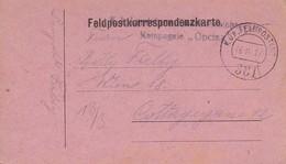 Feldpostkarte - Landsturm Einsebahn-Sicherungskompagnie Opcina Nach Wien - 1917 (38577) - 1850-1918 Imperium