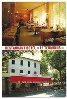 Quillan Hotel Restaurant Le Terminus Carte 2 Volets - Francia