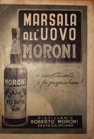 MARSALA ALL'UOVO MORONI  PUBBLICITA' ORIGINALE VINTAGE - Pubblicitari