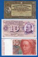 Suisse  3  Billets - Suiza