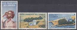 Franz. Somalia 1947 Bevölkerung Menschen Araber Grenzforts Loyada Bauwerke Residenz Djibouti Dschibuti, Mi. 304-6 ** - Ungebraucht