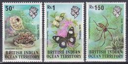 BIOT 1973 Tiere Animals Fauna Schmetterlinge Butterflies Insekten Insects Spinnen Spiders Quallen Jelly, Mi. 54-6 ** - Britisches Territorium Im Indischen Ozean
