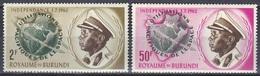 Burundi 1962 Weltraum Weltall Raumfahrt Planeten Erde Raketen König Mwambutsa IV., Mi. 51-2 ** - Burundi