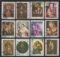 ECUADOR 1967  4° CONGRESSO EUCARISTICO NAZIONALE YVERT. 777-783+POSTA AEREA 482-486 USATA VF - Ecuador