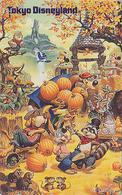 Télécarte Japon  / 110-182038 - DISNEY - DISNEYLAND - Japan Phonecard ** Hibou Owl Souris Mouse Potiron - Disney