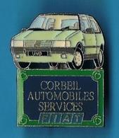 PIN'S //  ** CORBEIL * AUTOMOBILES SERVICES * FIAT * UNO ** - Fiat