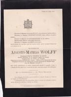 LIEGE Ancien Directeur De La Fonderie Royale De Canons Augustin-Mathias WOLFF  81 Ans 1903 - Avvisi Di Necrologio
