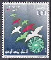 Algerien Algeria 1985, Sport Spiele Tiere Animals Vögel Birds Nationale Sportspiele, Mi. 877 ** - Algerien (1962-...)