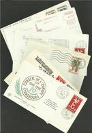"""Lot 6 Enveloppes """" CONSEIL DE L'EUROPE - STRASBOURG """" Flammes & Cachets... Toutes Scannées - Poststempel (Briefe)"""