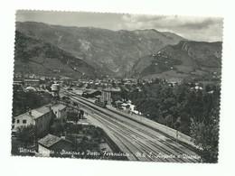 CARTOLINA POSTALE VITTORIO VENETO - STAZIONE E PARCO FERROVIARIO VG 1953 FERROVIA TRENO TRAIN - Other Cities