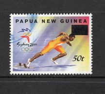 2001 Overprint 50t PAPUA NEW GUINEA SYDNEY OLYMPIC GAMES ATHLETICS On Value 25t VERY FINE USED - Papouasie-Nouvelle-Guinée