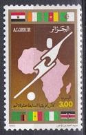 Algerien Algeria 1990, Sport Spiele Fußball Football Soccer Fahnen Flaggen Flags Cup, Mi. 1016 ** - Algerien (1962-...)