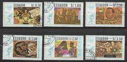 ECUADOR 1967  GIOCHI OLIMPICI DEL MESSICO YVERT. 775-776+POSTA AEREA 478-481 USATA VF - Ecuador