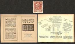 Liberation Faux Pétain Surch. Spécimen De L'atelier Des Faux - Ungebraucht