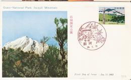 Japan 1963 Quasi-National Park Ishizuchi. Mi 813, FDC - Covers & Documents