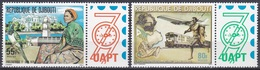 Dschibuti Djibouti 1979 Philatelie Philately PHILEXAFRIQUE Vögel Birds Tauben Doves Flugzeuge Aeroplanes, Mi. 251-2 ** - Dschibuti (1977-...)