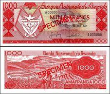 Rwanda 1000 Francs 1969 UNC Specimen - Ruanda