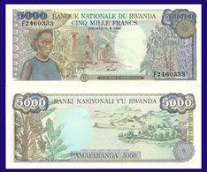 Rwanda 5000 Francs 1988 UNC - Rwanda