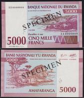 Rwanda 5000 Francs 1994 UNC Specimen - Rwanda