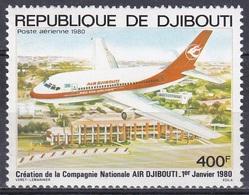 "Dschibuti Djibouti 1980 Transport Luftfahrt Aviation Flugzeuge Aeroplanes Planes ""Air Djibouti"", Mi. 270 ** - Dschibuti (1977-...)"