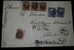 O) 1894 PERU, PRES. REMIGIO MORALES BERMUDEZ OVERPRINTE, COAT OF ARMS-EMBLEM SC 112 20c Blue, Berlin- Ar - RUCKSCHEIN-CE - Peru