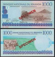 Rwanda 1000 Francs 1998 UNC Specimen - Rwanda