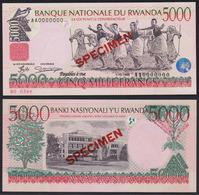Rwanda 5000 Francs 1998 UNC Specimen - Rwanda