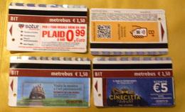 ITALIA 2018, 4 ROME METRO TICKETS - Metropolitana