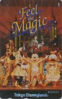 Télécarte Métal Or & Argent Japon / 110-182034 - DISNEY DISNEYLAND - FEEL THE MAGIC - Japan Silver & Gold Phonecard - Disney