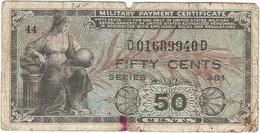 Estados Unidos - United States 50 Cents 1951 Pick 25 Militar Ref 3 - Certificati Di Pagamenti Militari (1946-1973)