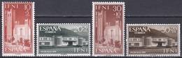 Spanien Espana Ifni 1960 Architektur Architecture Bauwerke Buildings Kirchen Churches Schulen Scools, Mi. 201-4 ** - Ifni