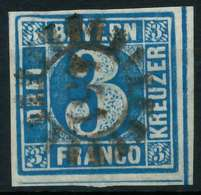 BAYERN QUADRATE Nr 2II GMR 451 Zentrisch Gestempelt X882686 - Bavière