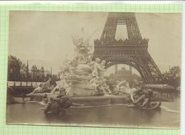 Photograph(18.5x12cm) Exposition Universelle De 1889 * Fontaine Monumentale Du Champ De Mars , Par Coutan - Foto