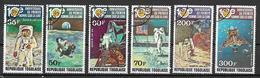 TOGO 1979 10°ANNIVERSARIO  DEL PRIMO UOMO SULLA LUNA YVERT. 963-964+POSTA AEREA 394-397 USATA VF - Togo (1960-...)