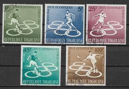 TOGO 1964 GIOCHI OLIMPICI A TOKIO YVERT. 425-428+POSTA AEREA 45 USATA VF - Togo (1960-...)