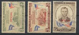 °°° HONDURAS - Y&T N°70/71/75 PA SERV. OFICIAL - 1959 °°° - Honduras