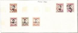 MONG TZEU - Petite Collection De 8 Timbres - TOP AFFAIRE - Mong-tzeu (1906-1922)