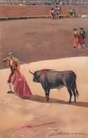 SEÑANDO LA ESTOCADA. STENGEL. TOROS, BULLS CORRIDAS. CIRCA 1890s - BLEUP - Corrida