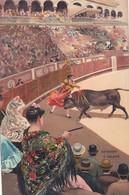 ESTOCADA A VOLAPIE. STENGEL. TOROS, BULLS CORRIDAS. CIRCA 1890s - BLEUP - Corrida