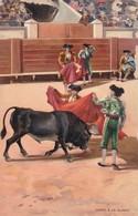 CAPRO A LA ALIMON. STENGEL. TOROS, BULLS CORRIDAS. CIRCA 1890s - BLEUP - Corrida