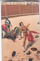 OVACION Y LA OREJA. STENGEL. TOROS, BULLS CORRIDAS. CIRCA 1890s - BLEUP - Corrida