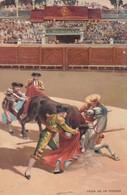 CAIDA DE UN PICADOR. STENGEL. TOROS, BULLS CORRIDAS. CIRCA 1890s - BLEUP - Corrida