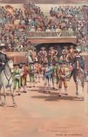 SALIDA DE LA CUADRILLA. STENGEL. TOROS, BULLS CORRIDAS. CIRCA 1890s - BLEUP - Corrida