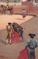 UNA VERONICA. STENGEL. TOROS, BULLS CORRIDAS. CIRCA 1890s - BLEUP - Corrida