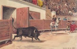 SALIDA DEL TORO. STENGEL. TOROS, BULLS CORRIDAS. CIRCA 1890s - BLEUP - Corrida