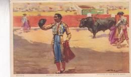 BRINDIS. OFFRANT LA MORT DU TAREAU. JDP. TOROS, BULLS CORRIDAS. CIRCA 1900s - BLEUP - Corrida