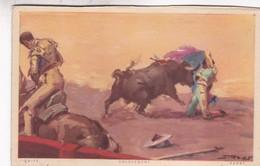 QUITE. ENLEVEMENT. JDP. TOROS, BULLS CORRIDAS. CIRCA 1900s - BLEUP - Corrida