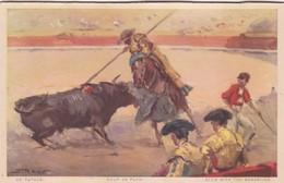 UN PUYAZO, COUP DE PUYA. JDP. TOROS, BULLS CORRIDAS. CIRCA 1900s - BLEUP - Corrida