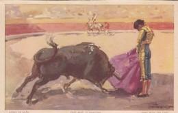 LANCE E CAPA. PASE AVEC LE MANTEAU. JDP. TOROS, BULLS CORRIDAS. CIRCA 1900s - BLEUP - Corrida